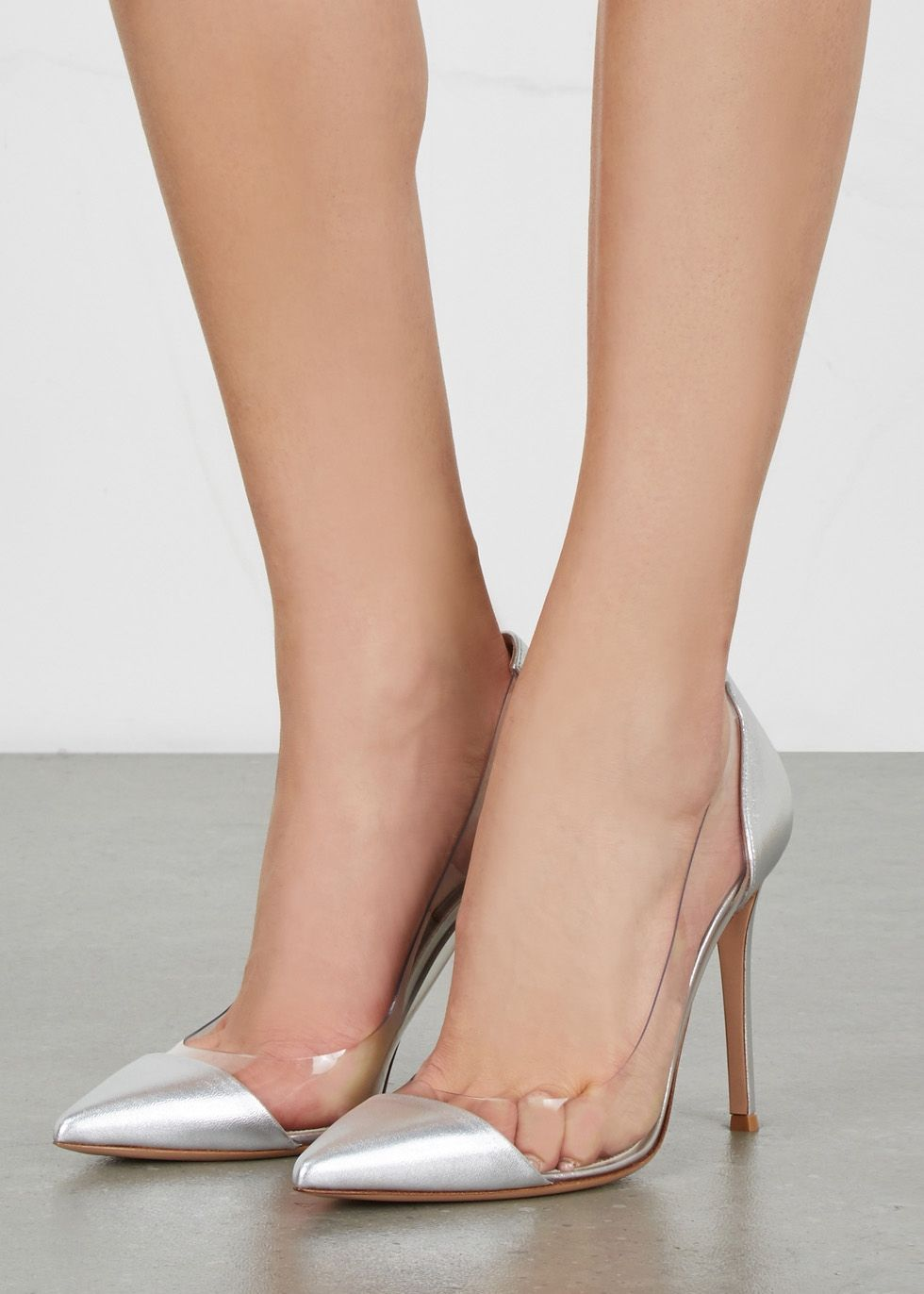 Gianvito Rossi Plexi Leather And Perspex Pumps Celebrity Shoes Sergio Rossi Shoes Fun Heels