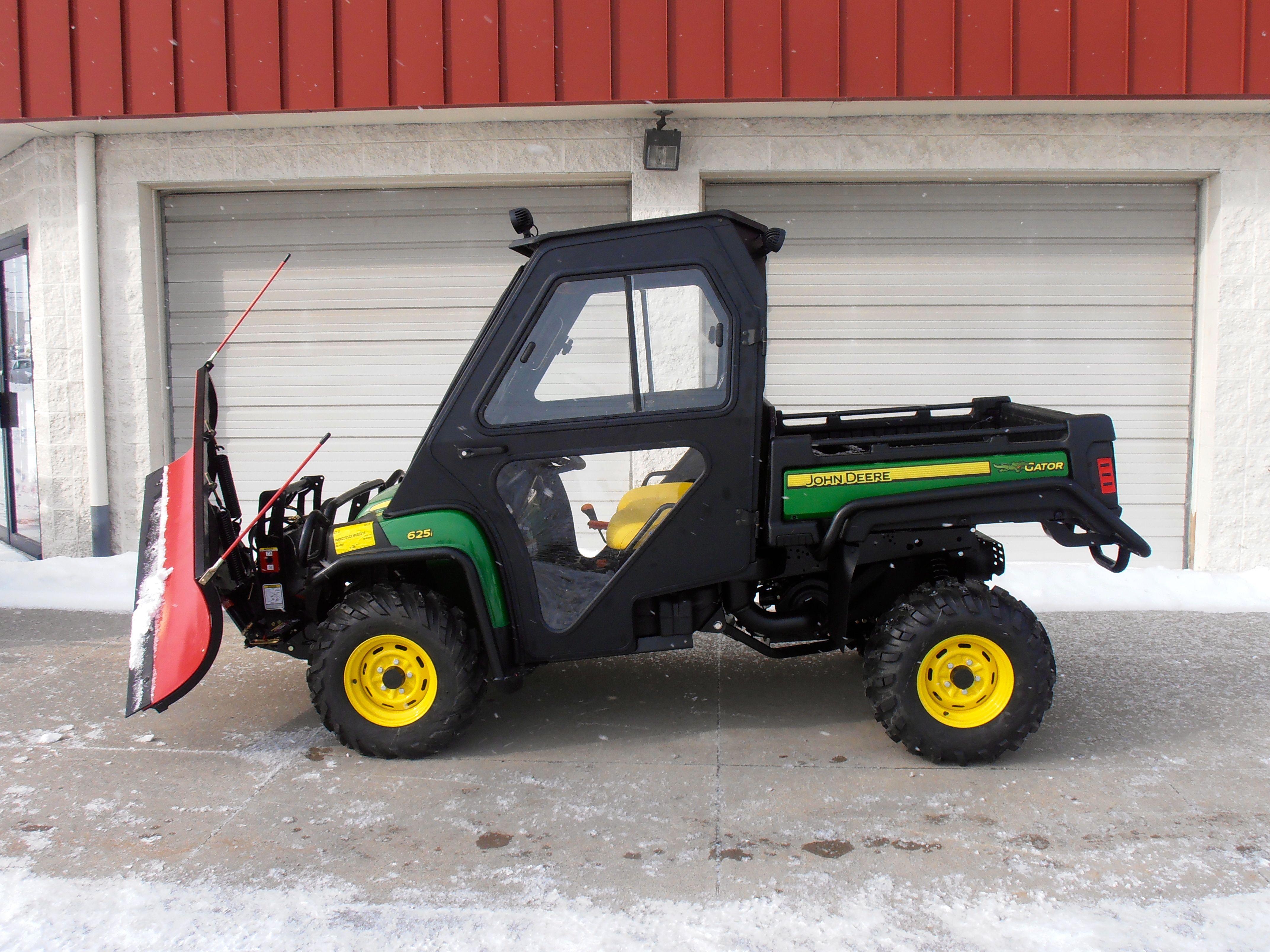 John Deere Snow Plow : John deere xuv i gator w cab boss front snow blade