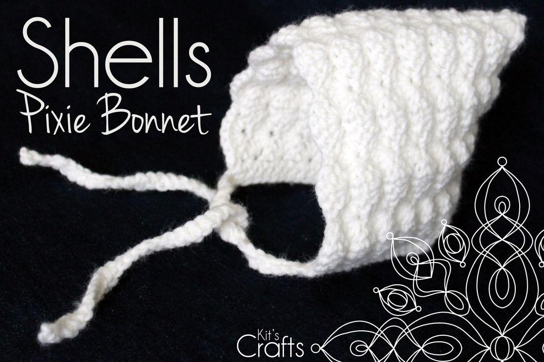 Kit\'s Crafts - Shells Pixie Bonnet Free Pattern | Crochet Queen ...