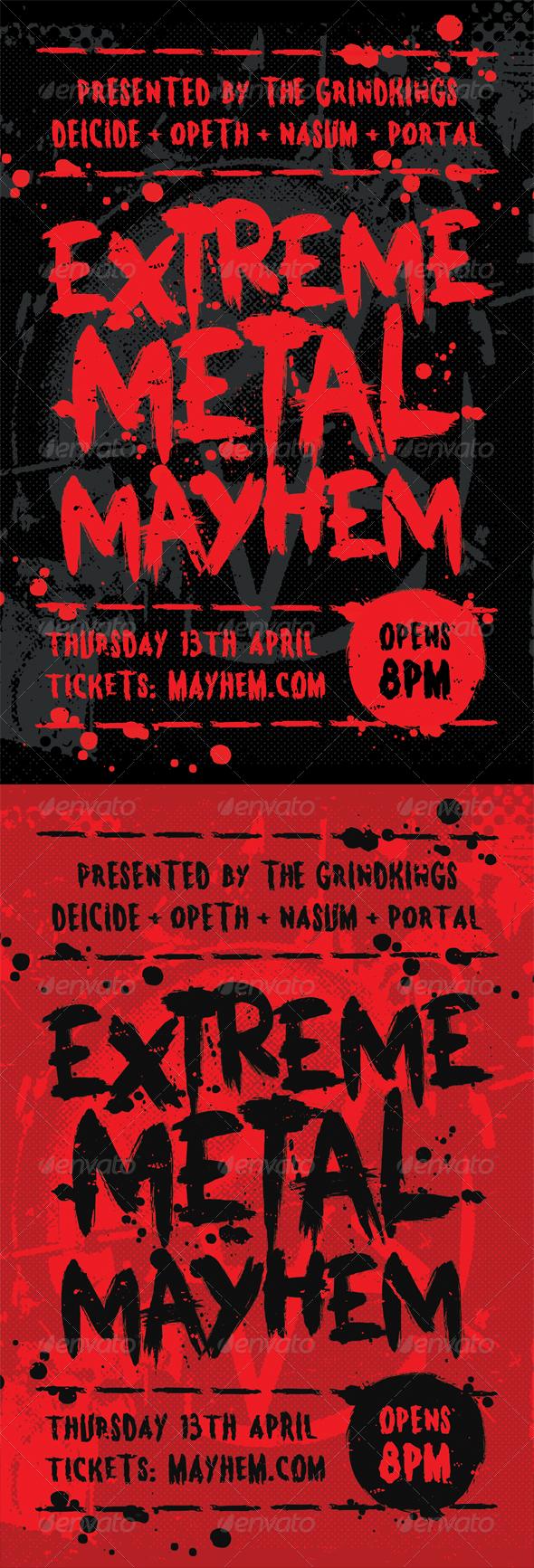 Mayhem Heavy Metal Flyer Template – Mayhem Flyer Template