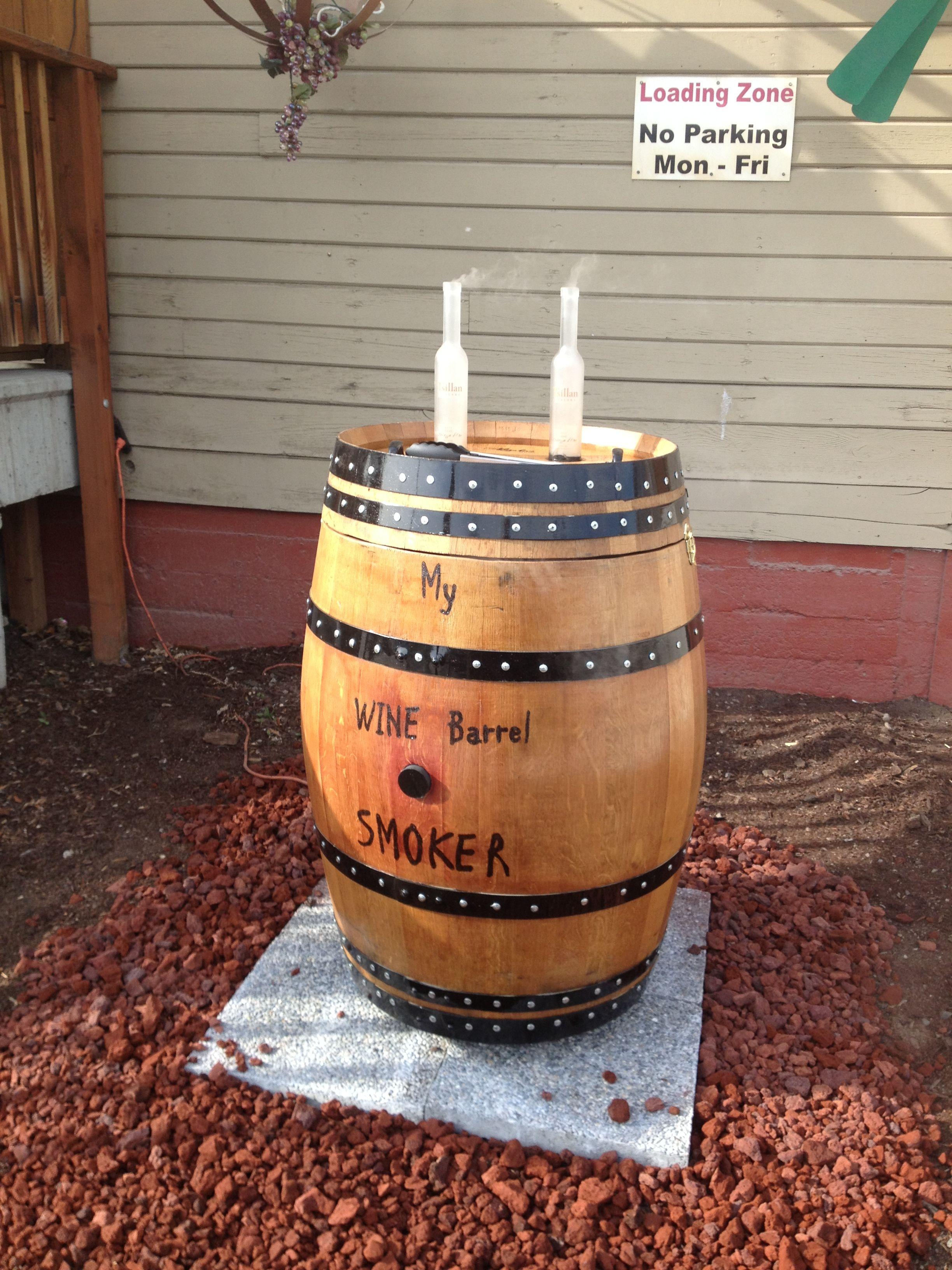 stack wine barrels. Smoker Made From Wine Barrel With Your Favorite Bottle\u0027s S Smoke Stack!. $525.00 Stack Barrels