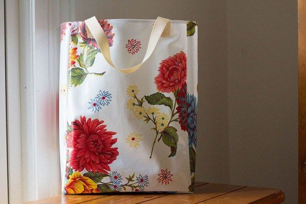 Free Pattern Oilcloth Grocery Tote