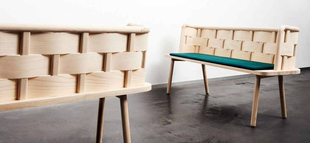 Bendy Bench by Sarah Cramer and Anders Engholm - a new interpretation of the old kitchen bench - read more www.studiofem.dk