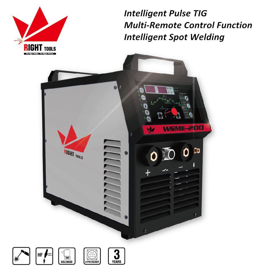 WSME-200 digital aluminium ac dc inverter tig mma welder with pulse