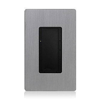 Lutron Radiora 2 Digital Fade Dimmer Black And Stainless Steal