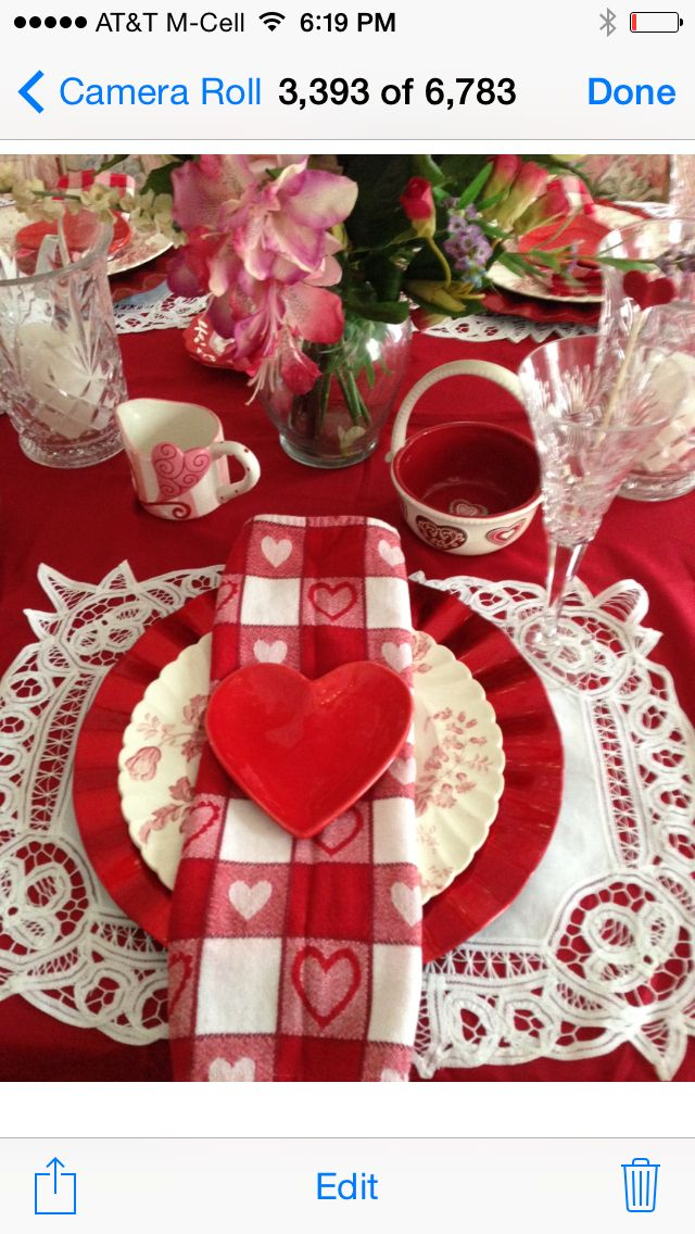 Valentines day tablescape Love !