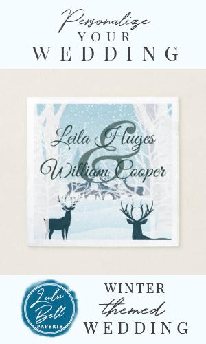 Elegant Winter Wedding light blue Napkin