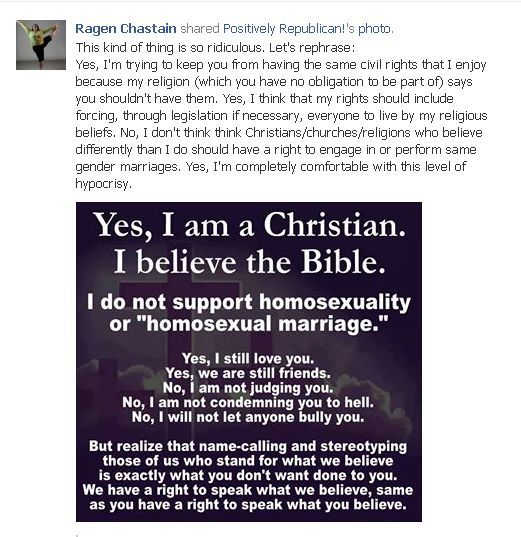 gay marriage secular argument separation church and state