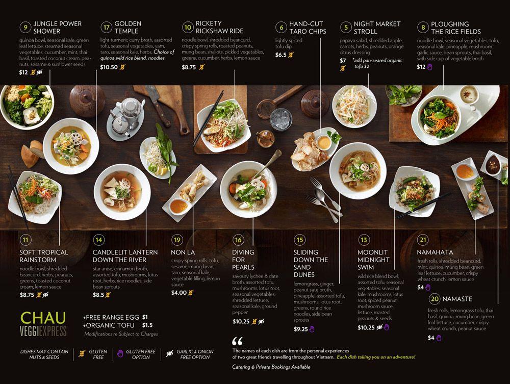 Chau Menu Google Search Restaurant Menu Design