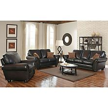 Sensational Melrose Leather Sofa Loveseat And Pushback Recliner 3 Pabps2019 Chair Design Images Pabps2019Com