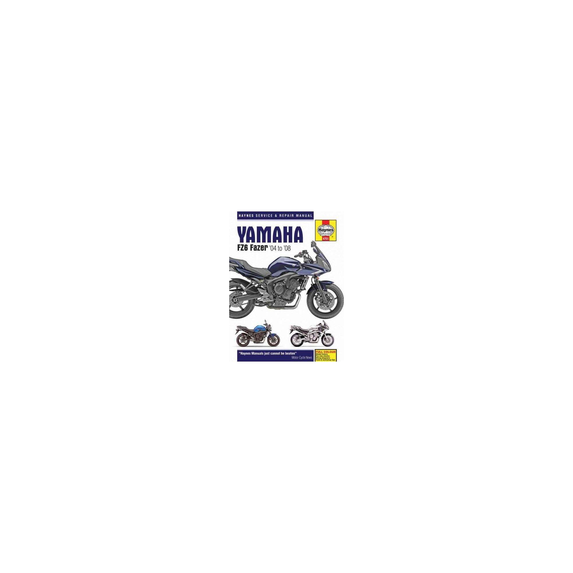 Haynes Yamaha FZ6 Fazer '04 to '08 Service and Repair Manual (Paperback)