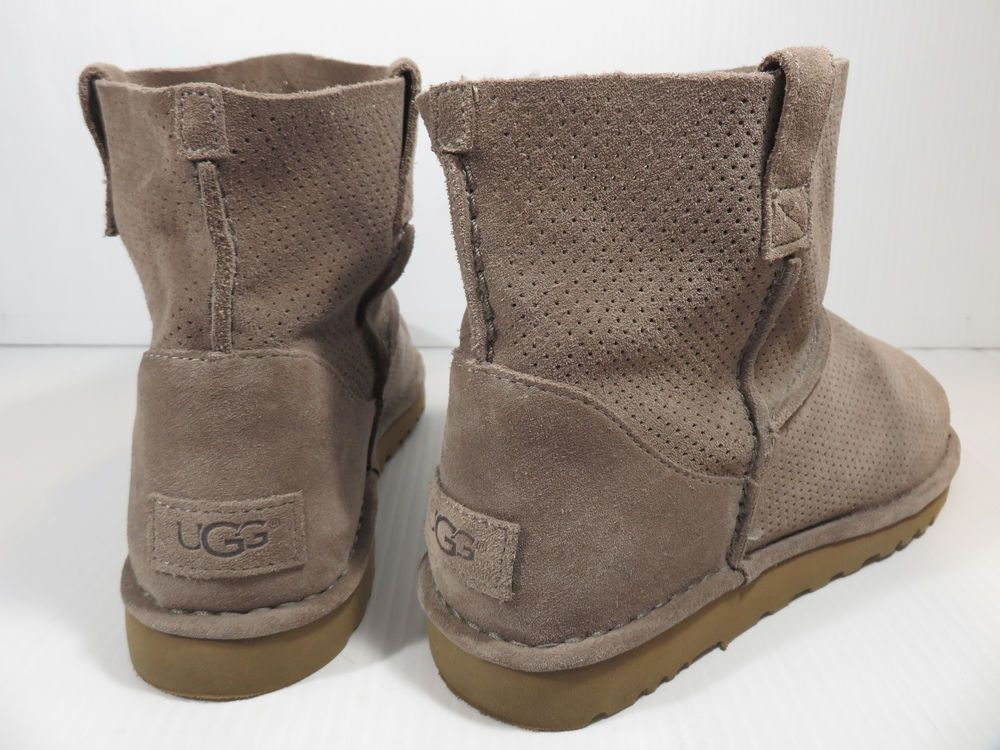 39f54c2097b UGG AUSTRALIA 1016852 CLASSIC UNLINED MINI PERFORATED BOOTS US 10 ...