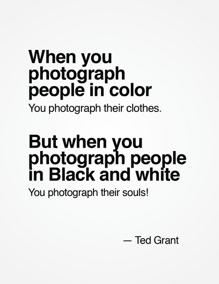 Photography quote · color vs