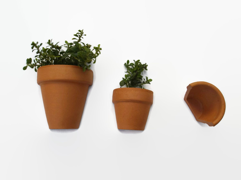 Miniature Clay Pots Set X 3 Terracotta Clay Half Pots Miniature Gardening Ornaments Mini Terracotta Planter Miniature Clay Pots Clay Pots Terracotta Planter