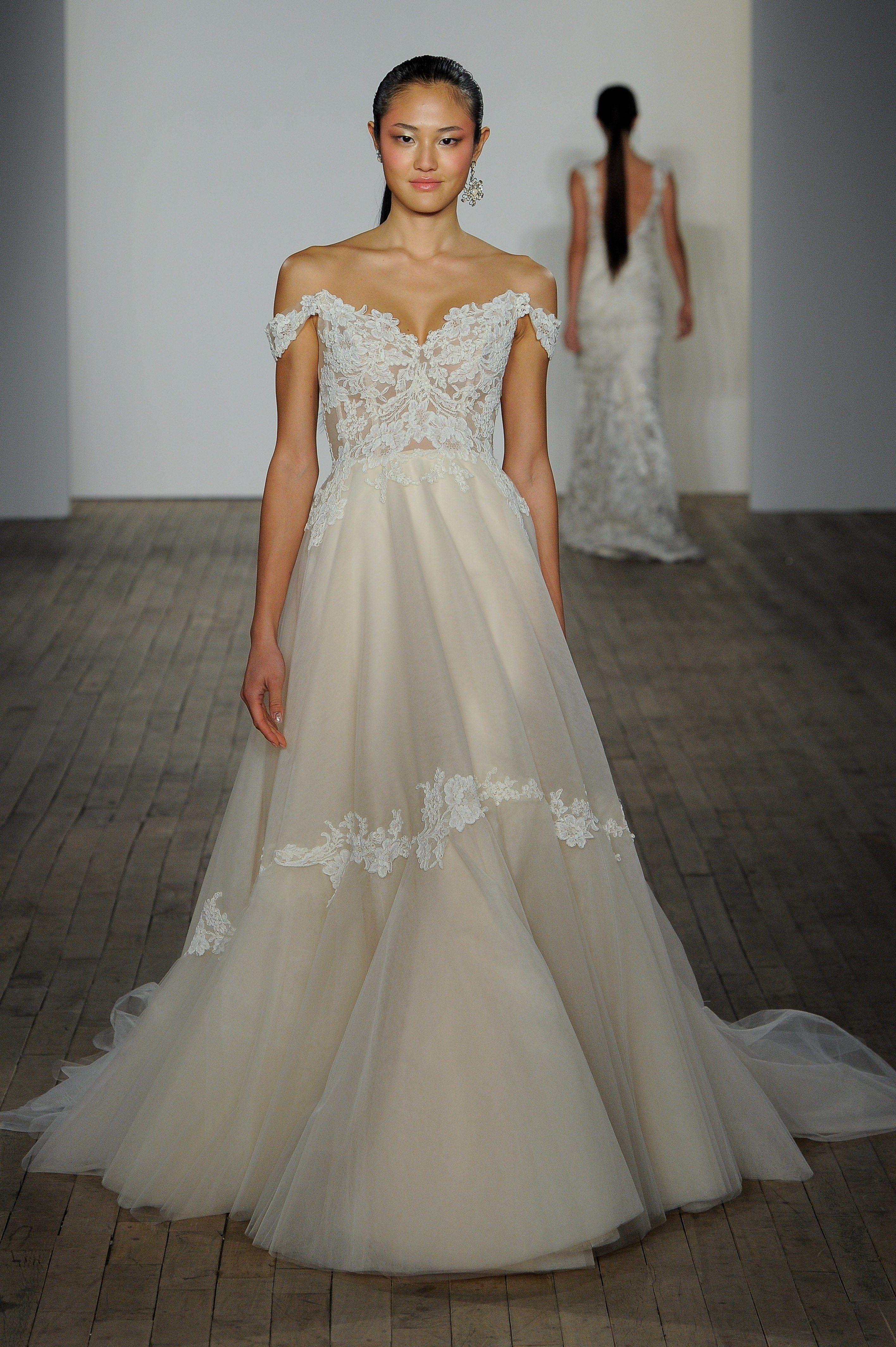 Lazaro Bridal Fall 2019 With Images Lazaro Wedding Dress Wedding Dresses Wedding Dresses Unique