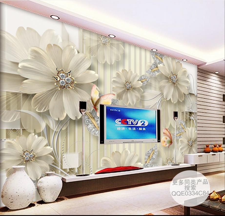 custom 3d stereoscopic wallpaper for walls 3 d HD court jewelry ...