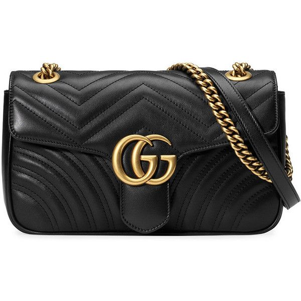 Gucci GG Marmont matelassé shoulder bag (€1.250) ❤ liked on Polyvore  featuring bags 2256a758696