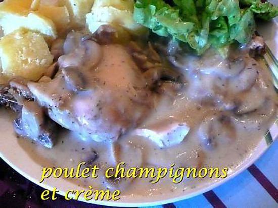recette poulet champignons et crème