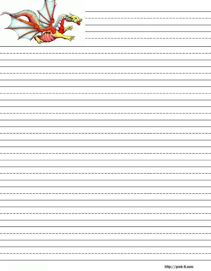 Handwriting Paper To Print – Lined Paper Template Kids