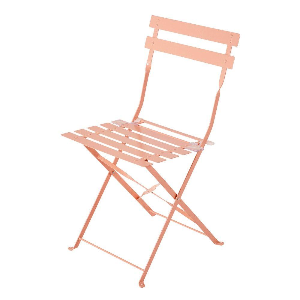 2 Metal Folding Garden Chairs In Taupe Folding Garden