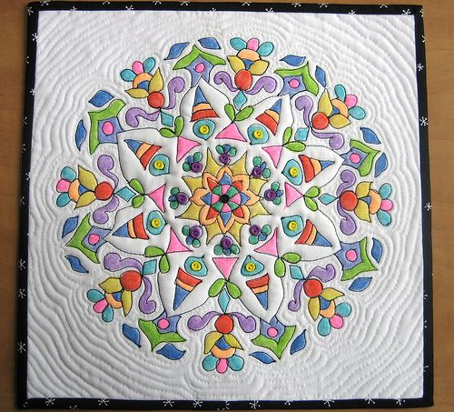 tinted with crayons! I gotta try this. | Quilting Inspiration ... : mandala quilt - Adamdwight.com