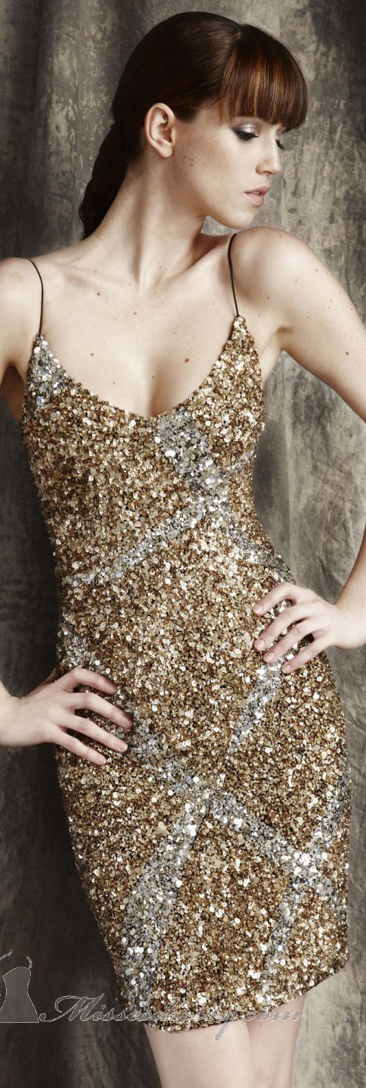 Cocktail dress by theia glitter party dresses pinterest gold