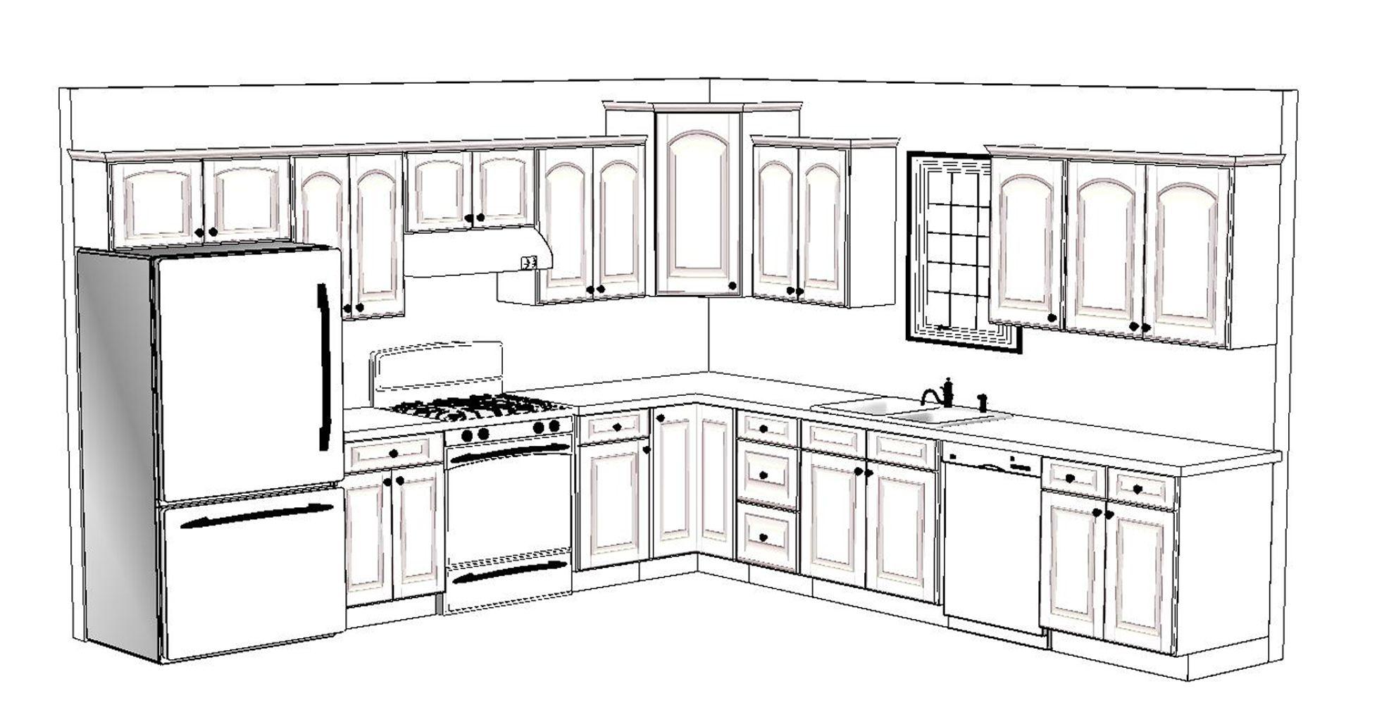 10 X 12 Kitchen Layout 4