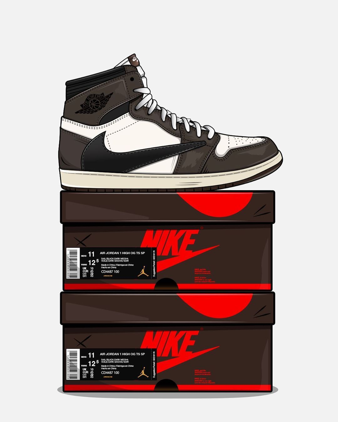 2 166 Mentions J Aime 44 Commentaires No Sply No Sply Sur Instagram Travis Scott Aj1 Is This T Sneakers Illustration Shoes Wallpaper Sneakers Drawing
