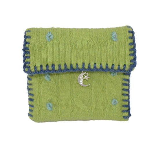 Cashmere Tooth Fairy Pouch With Cute Sterling Silver Charm Convertible Into A Necklace Or Bookmark. Made to Order.    A donation will benefit those with a cleft lip and palate... Because all children deserve to smile!