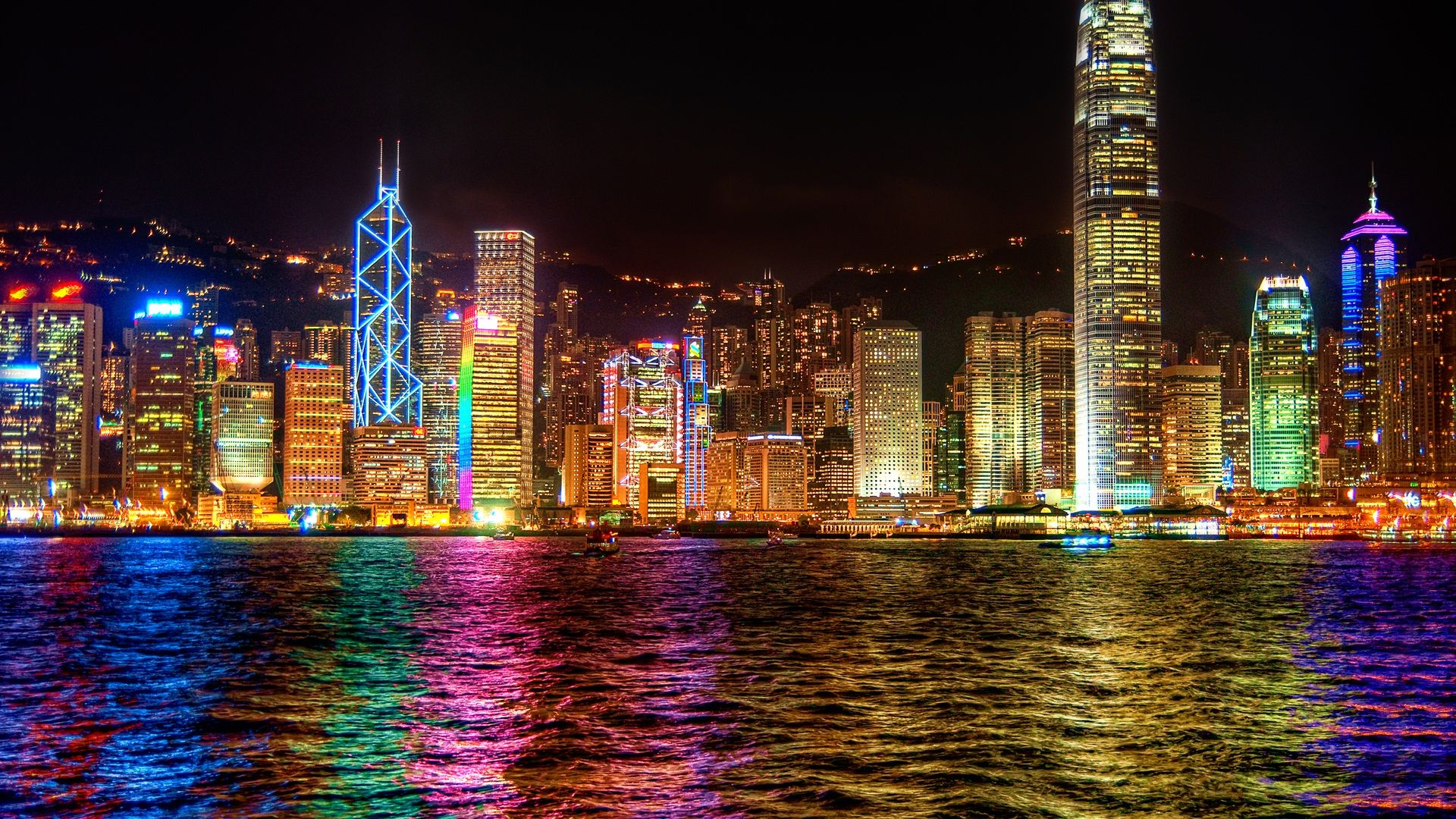 Colorful City Wallpaper Hd 1080p | Effervescent Colorful Imagery in 2019 | Pinterest | Night ...
