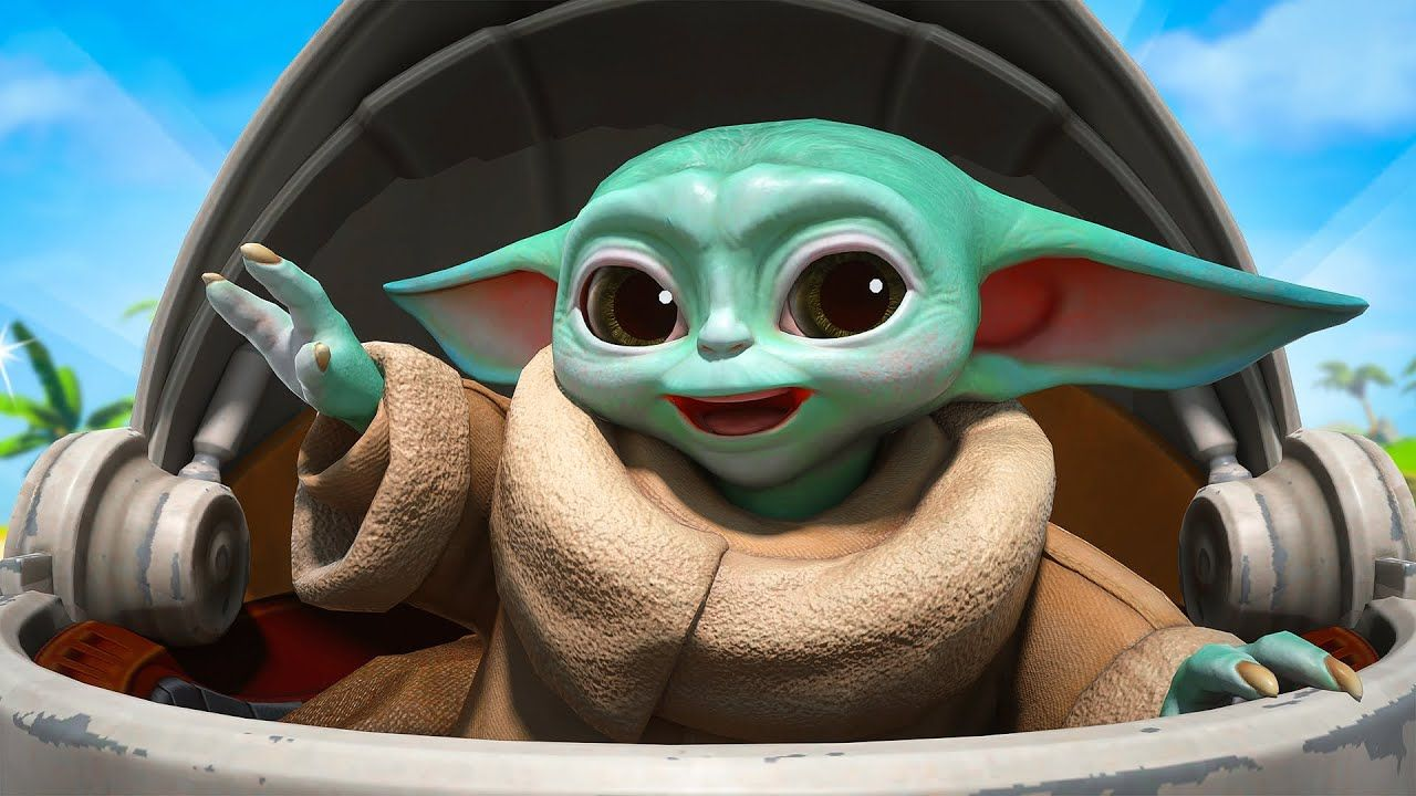 Baby Yoda In Fortnite Yoda Fortnite Baby