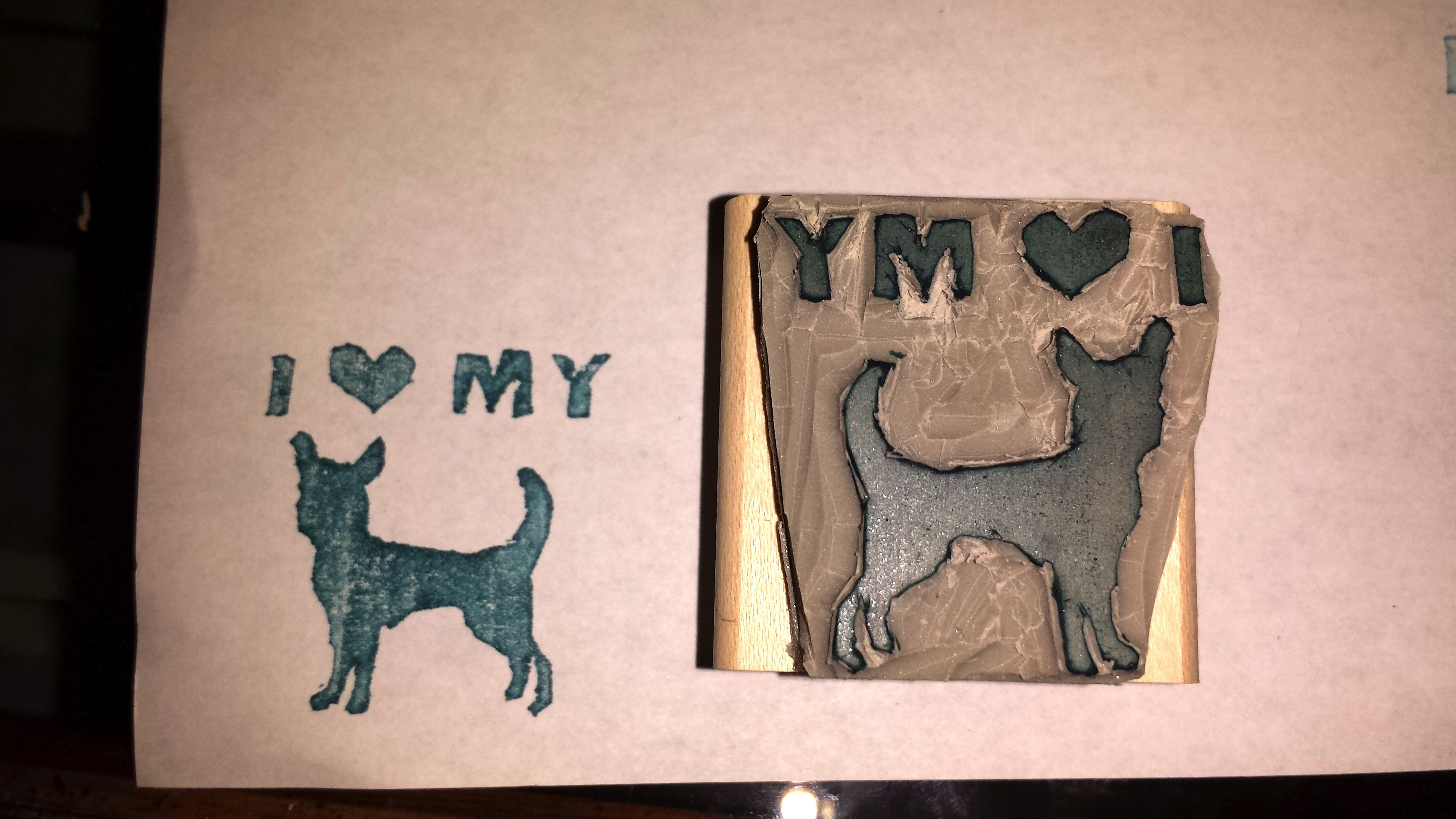 Puppy love carved by Tiffany Manger