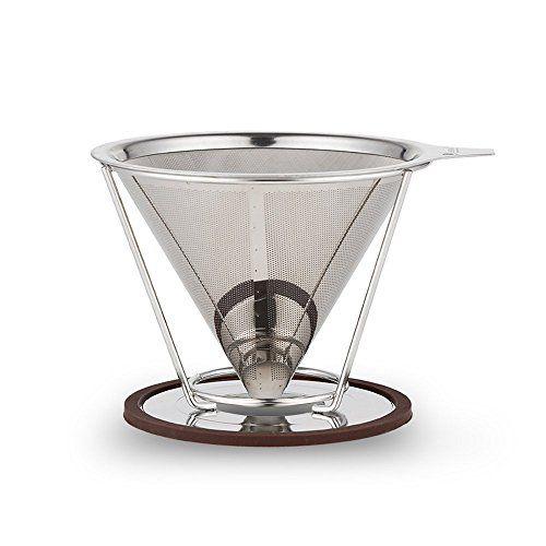 Kaffeefilter Edelstahl edelstahl gie en kegel dripper wiederverwendbare kaffeefilter mit
