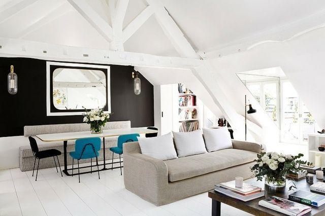 Moderne Wohnung Einrichten Ideen Wohnzimmer Möbel Dachboden Ideen
