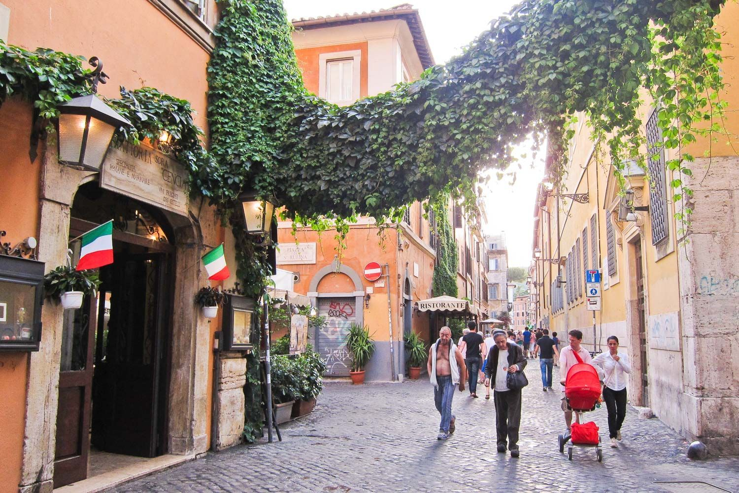 Trastevere street dripping with ivy- one of the best areas ...