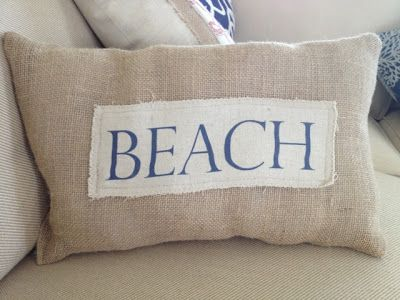 Diy Beach Throw Pillows On The Cheap And Easy With Images