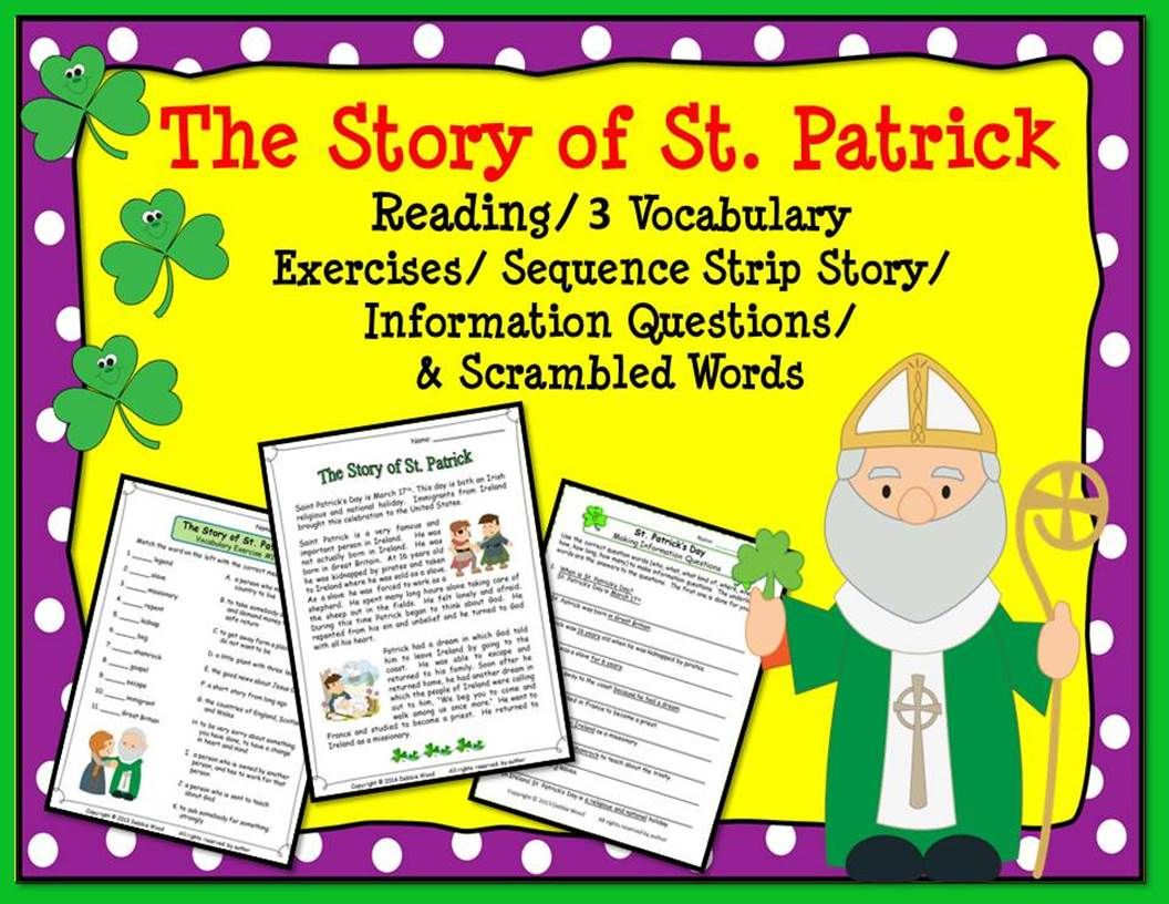 St Patrick S Day Reading Prehension Activities