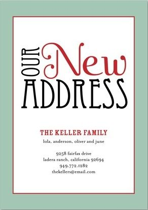 New Address Home Moving Announcement Cards For The Home Moving