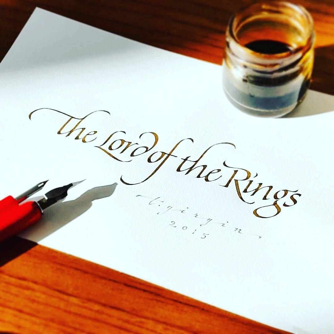 Calligraphy Lettering Typography Typism Artvideos