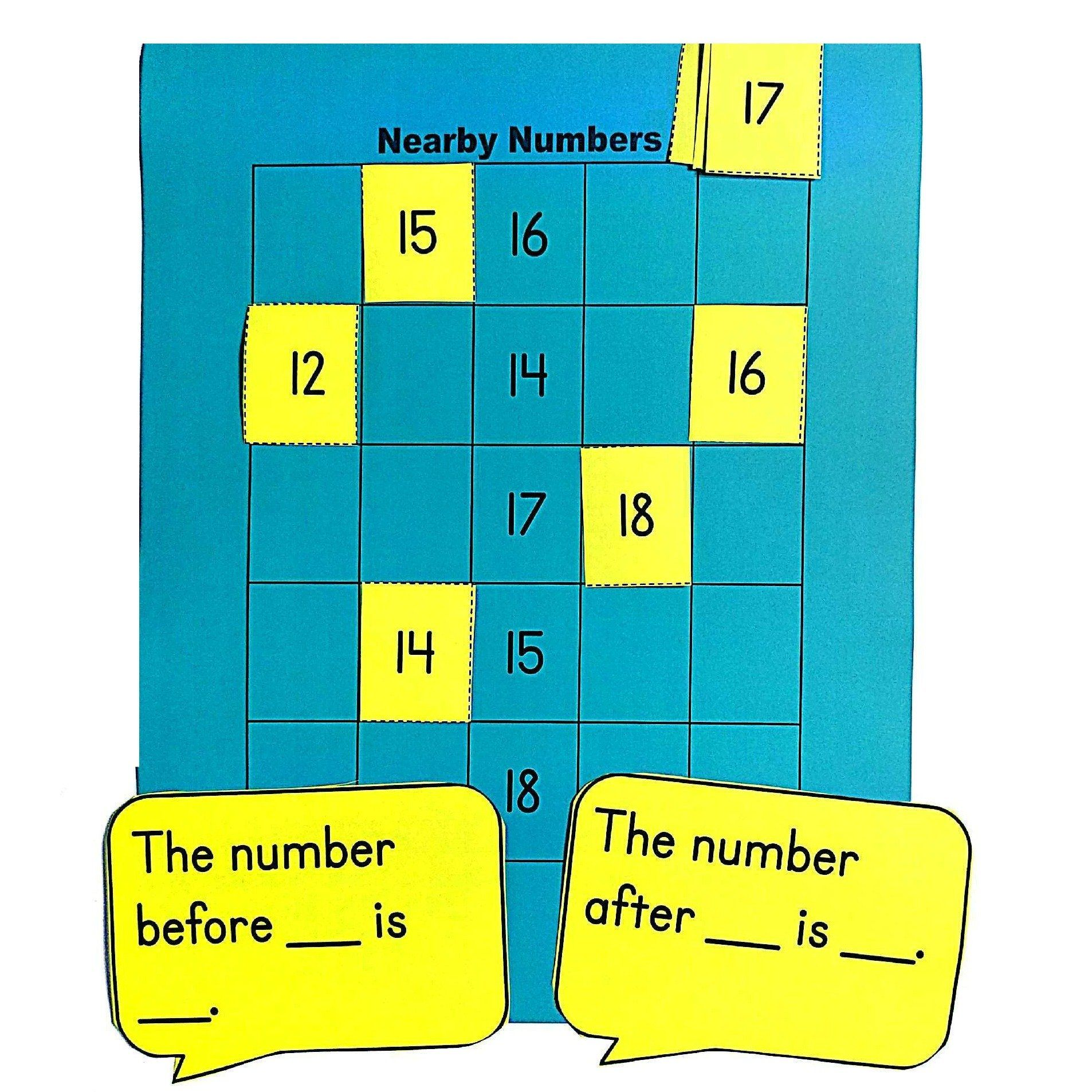 This Kindergarten Math Center Provides Practice In Naming