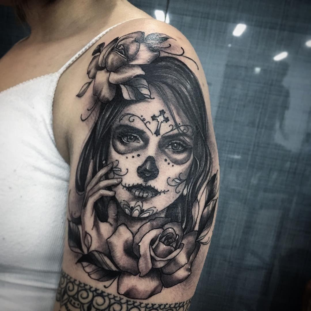 Resultado De Imagen Para Catrina Tattoo Tatuajes border=