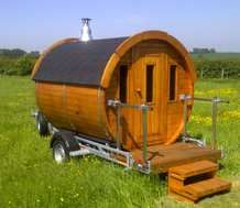 You can get quite quirky... this mobile sauna business brings a fresh approach