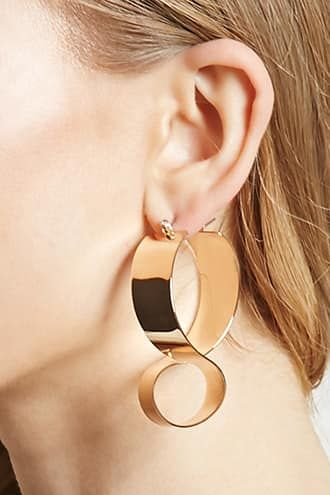 Oliver Bonas Women Toynton Grey Bead Front to Back Drop Earrings