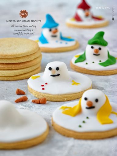 Melted Snowmen Biscuits Christmas Christmas Biscuits Melted