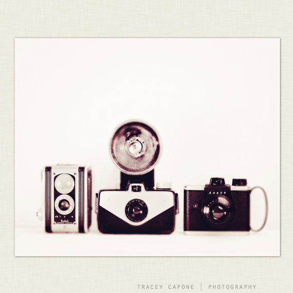 Vintage Camera Wall Decor - Retro Inspired Photography - The Lineup - Retro geekery Camera Home Decor Etsy wall art & Vintage Camera Wall Art Print Monochrome Minimalist Home Decor ...