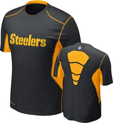 a2bed31d0d31 Pittsburgh Steelers Black Nike Sideline Dri-Fit Hypercool Speed Top T-Shirt
