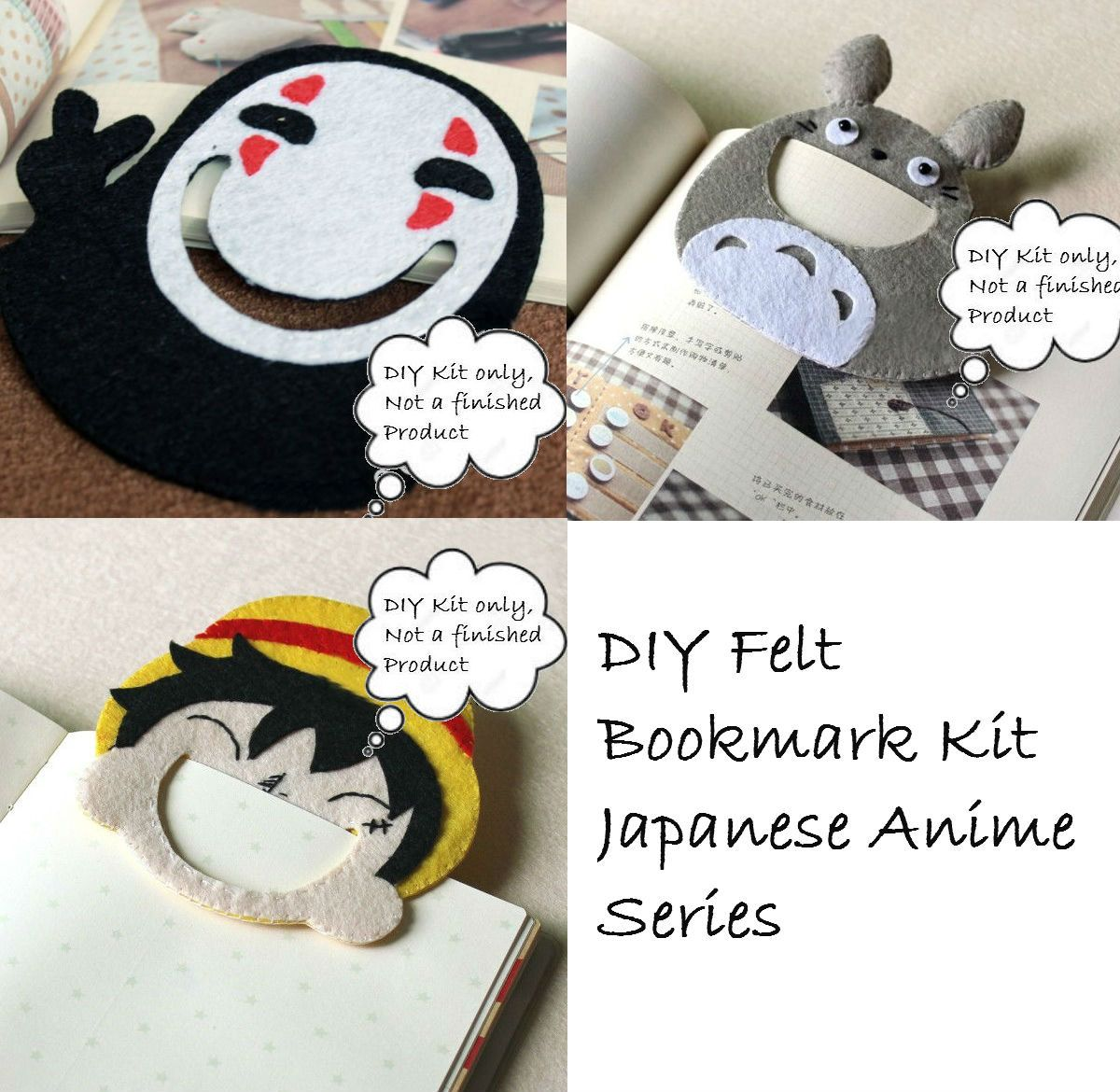 Totoro Spirited Away DIY Felt Kit DIY Bookmark Kit