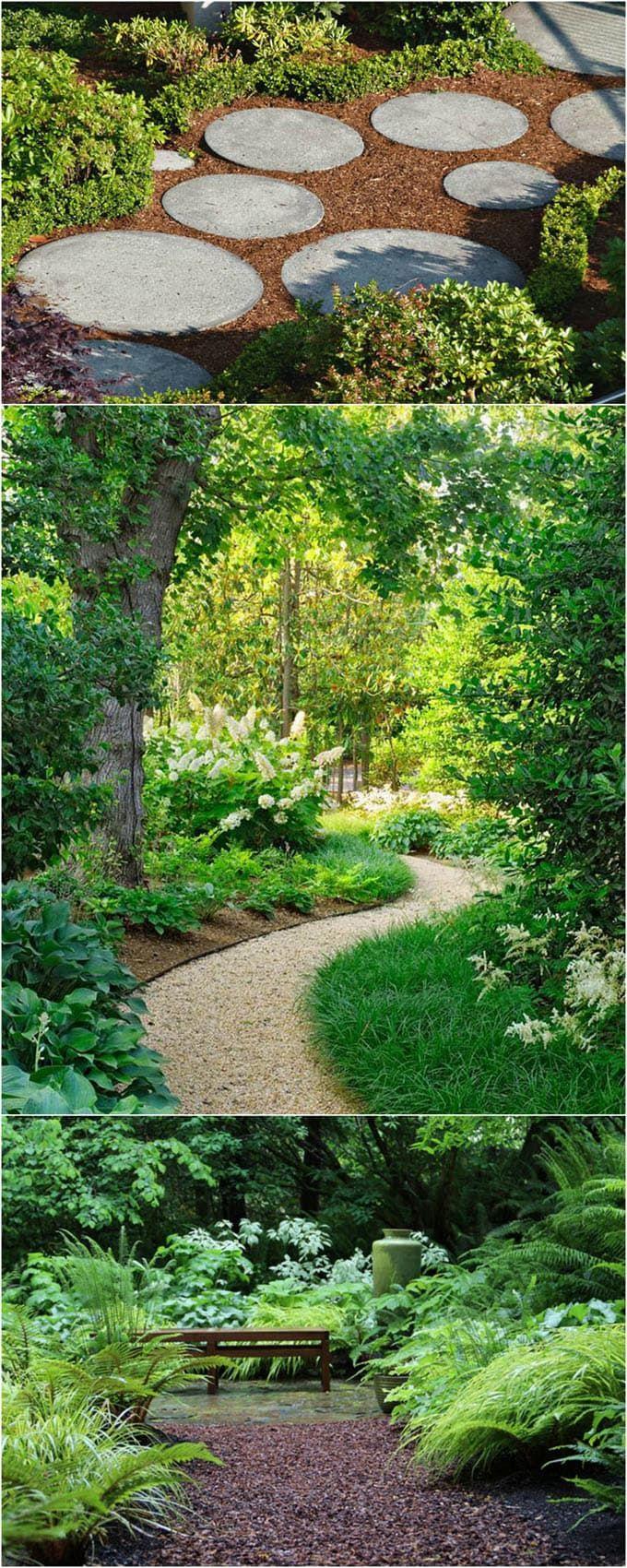 25 most beautiful diy garden path ideas sloped garden on most beautiful backyard landscaping ideas id=87481