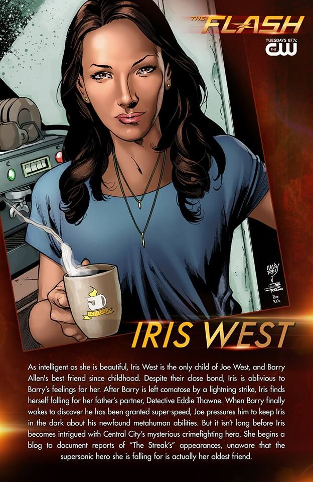 This caffeinated queen's supersonic crush goes by many names. #TheFlash is all new tomorrow at 8/7c!   Illustration by renowned DC Comics artist, Ivan Reis!