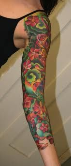 Very colorful sleeve